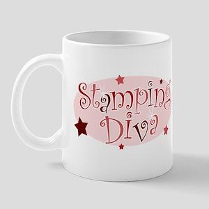 """""""Stamping Diva"""" [red] Mug"""